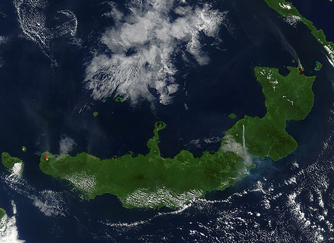 Eruptions of Ulawun, Langila, and Rabaul volcanoes, New Britain - related image preview