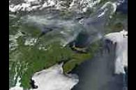 Smoke across eastern Canada