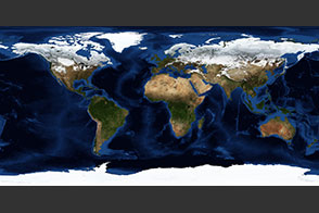 January, Blue Marble Next Generation w/ Topography and Bathymetry - selected child image