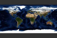 January, Blue Marble Next Generation w/ Topography and Bathymetry