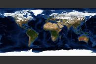 February, Blue Marble Next Generation w/ Topography and Bathymetry