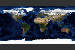 March, Blue Marble Next Generation w/ Topography and Bathymetry - selected image