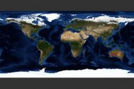 May, Blue Marble Next Generation w/ Topography and Bathymetry