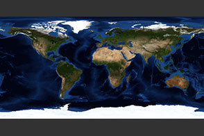 June, Blue Marble Next Generation w/ Topography and Bathymetry - selected image