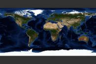 June, Blue Marble Next Generation w/ Topography and Bathymetry