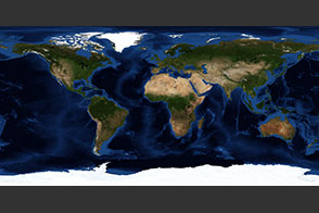 July, Blue Marble Next Generation w/ Topography and Bathymetry - selected image