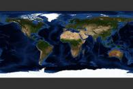 August, Blue Marble Next Generation w/ Topography and Bathymetry