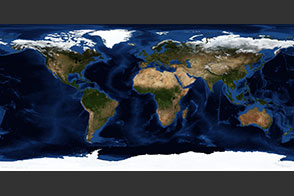 October, Blue Marble Next Generation w/ Topography and Bathymetry - selected image