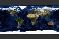 November, Blue Marble Next Generation w/ Topography and Bathymetry
