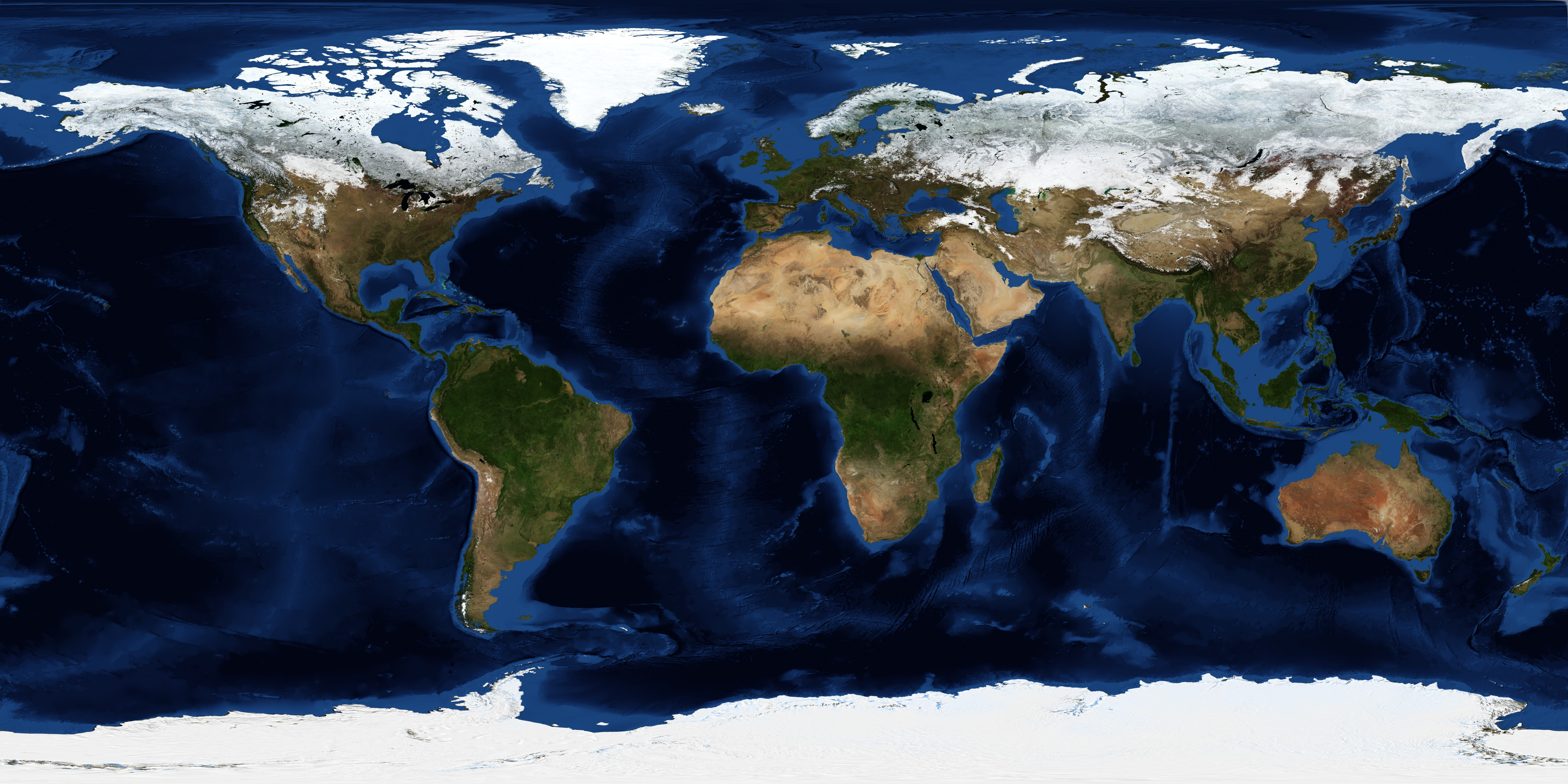 December, Blue Marble Next Generation w/ Topography and Bathymetry - related image preview