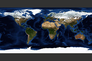 December, Blue Marble Next Generation w/ Topography and Bathymetry - selected image