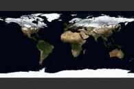January, Blue Marble Next Generation w/ Topography