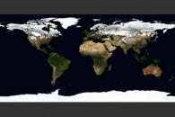 February, Blue Marble Next Generation w/ Topography