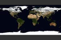 March, Blue Marble Next Generation w/ Topography