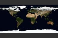 April, Blue Marble Next Generation w/ Topography