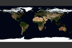 October, Blue Marble Next Generation w/ Topography - selected image