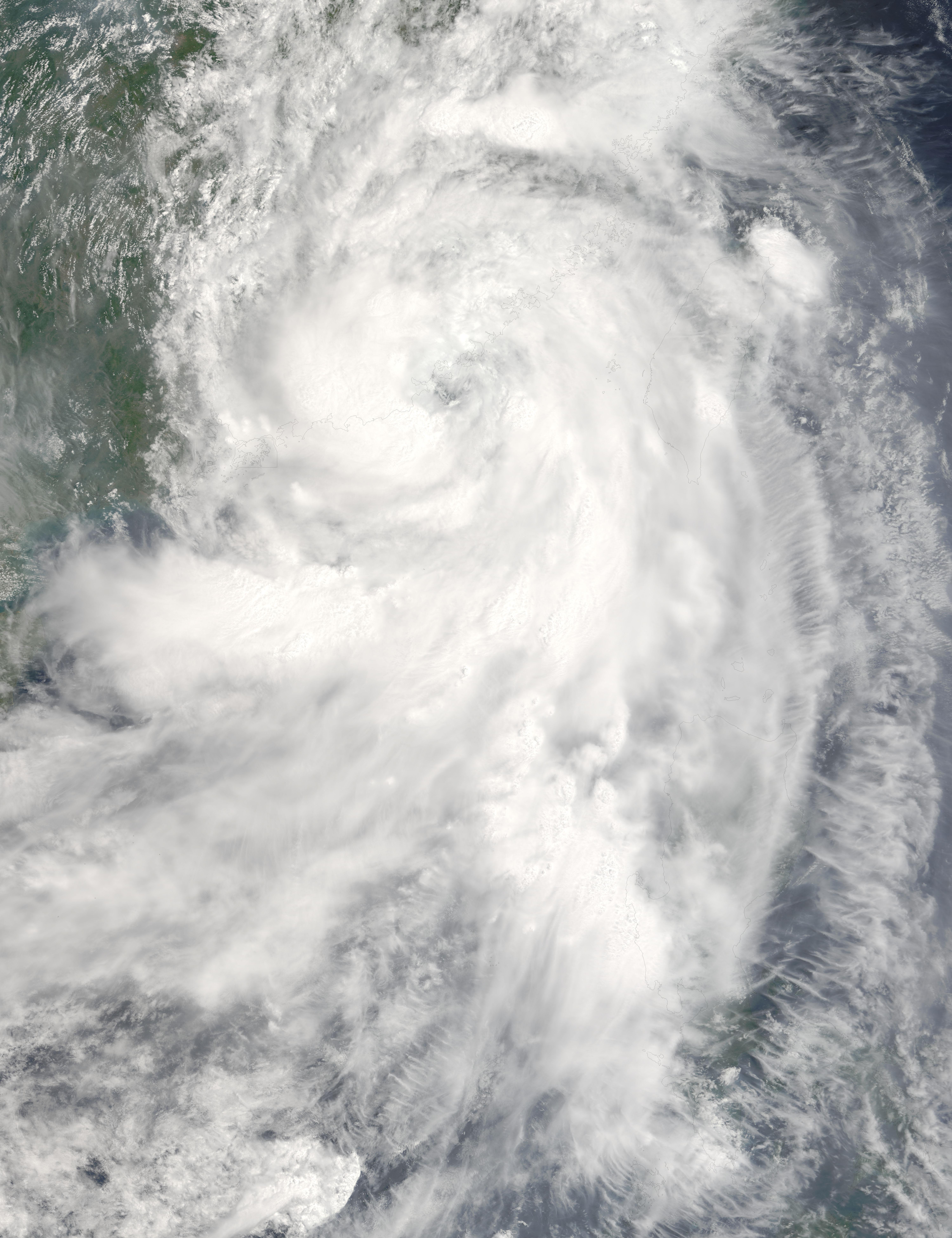 NASA Visible Earth: Tropical Storm Sanvu over China