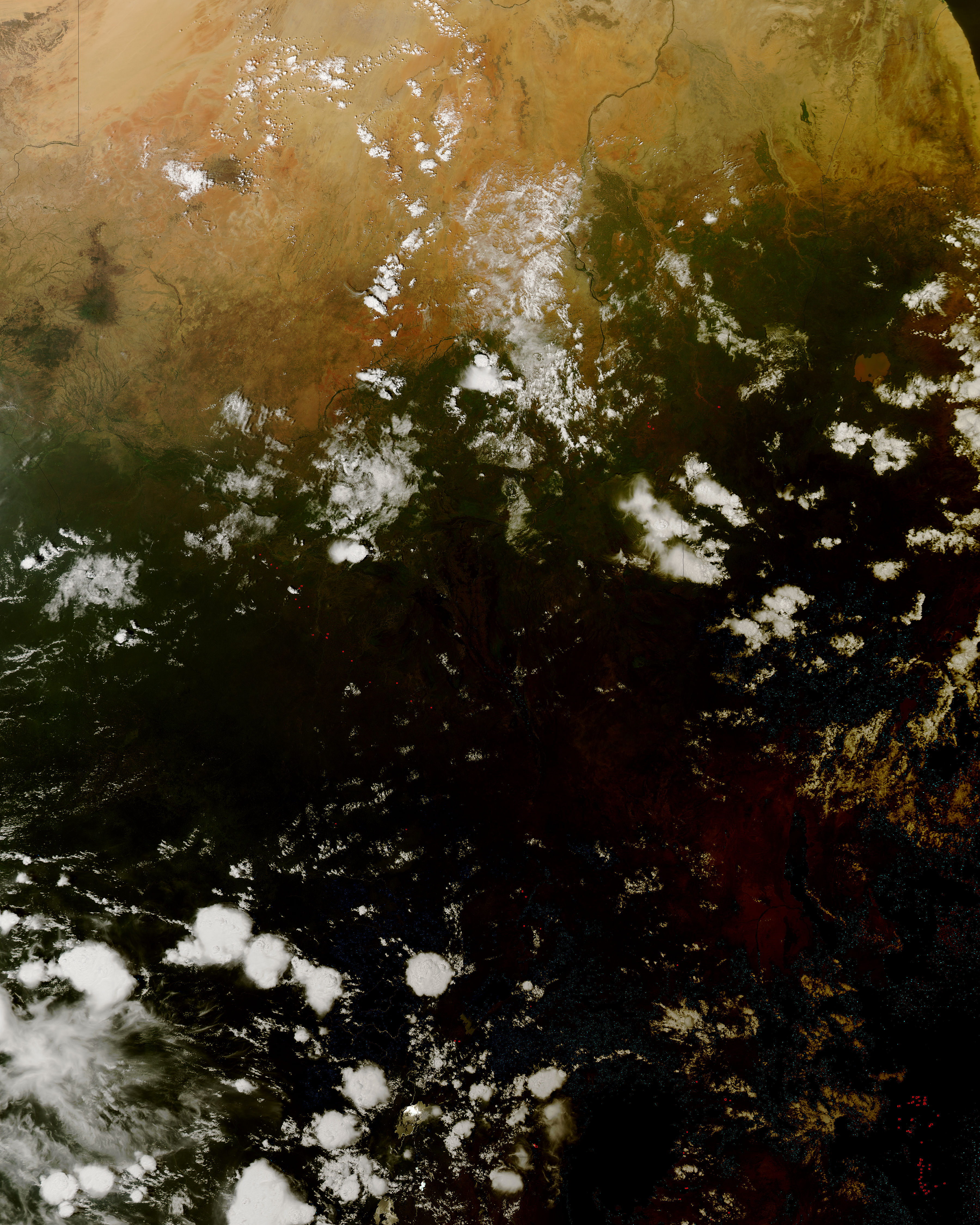 NASA Visible Earth: Solar eclipse over East Africa