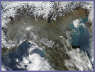 Smog in Northern Italy - selected image