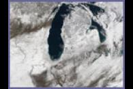 Snow storm across the Upper Midwest