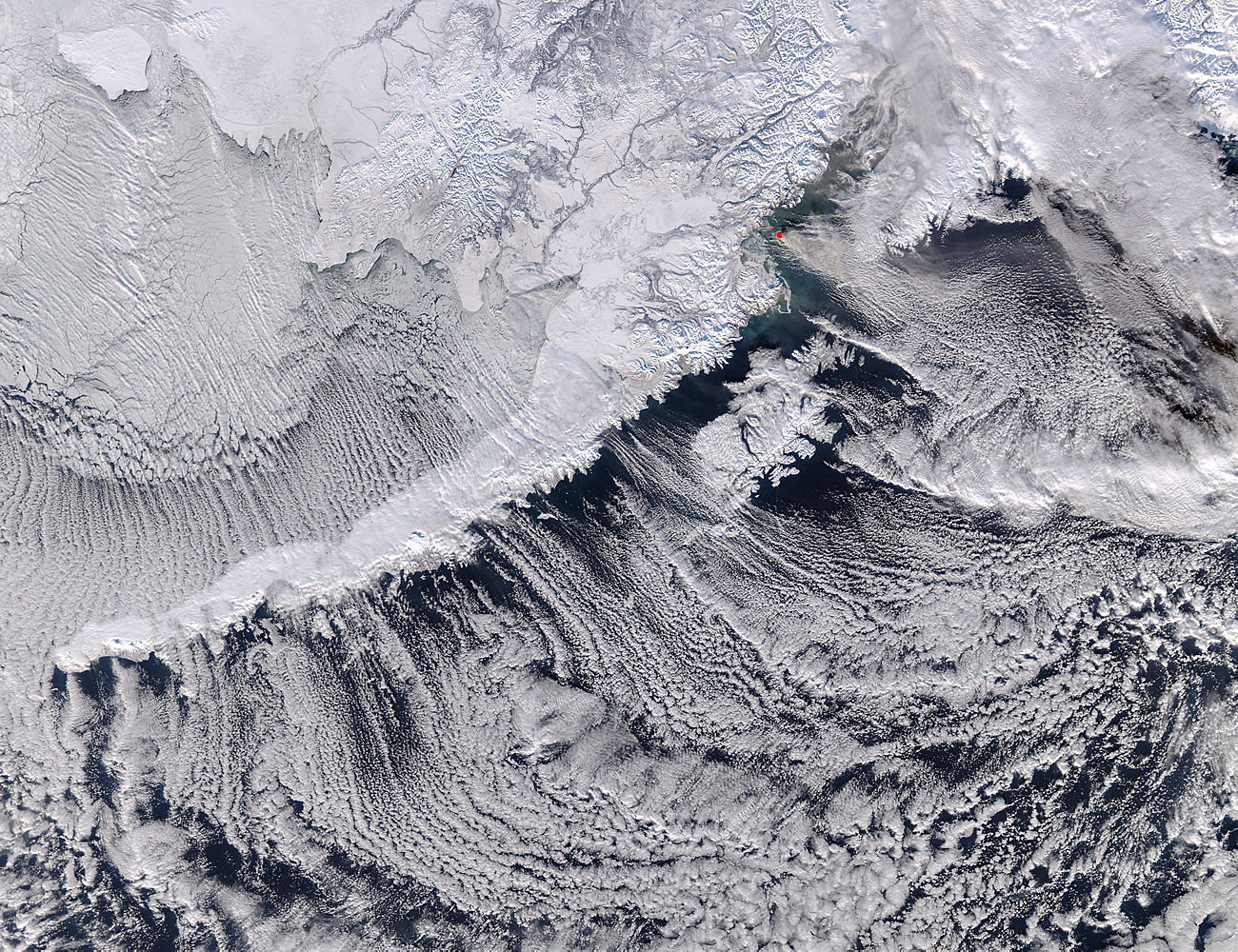 Cloud streets along the Alaska Peninsula - related image preview