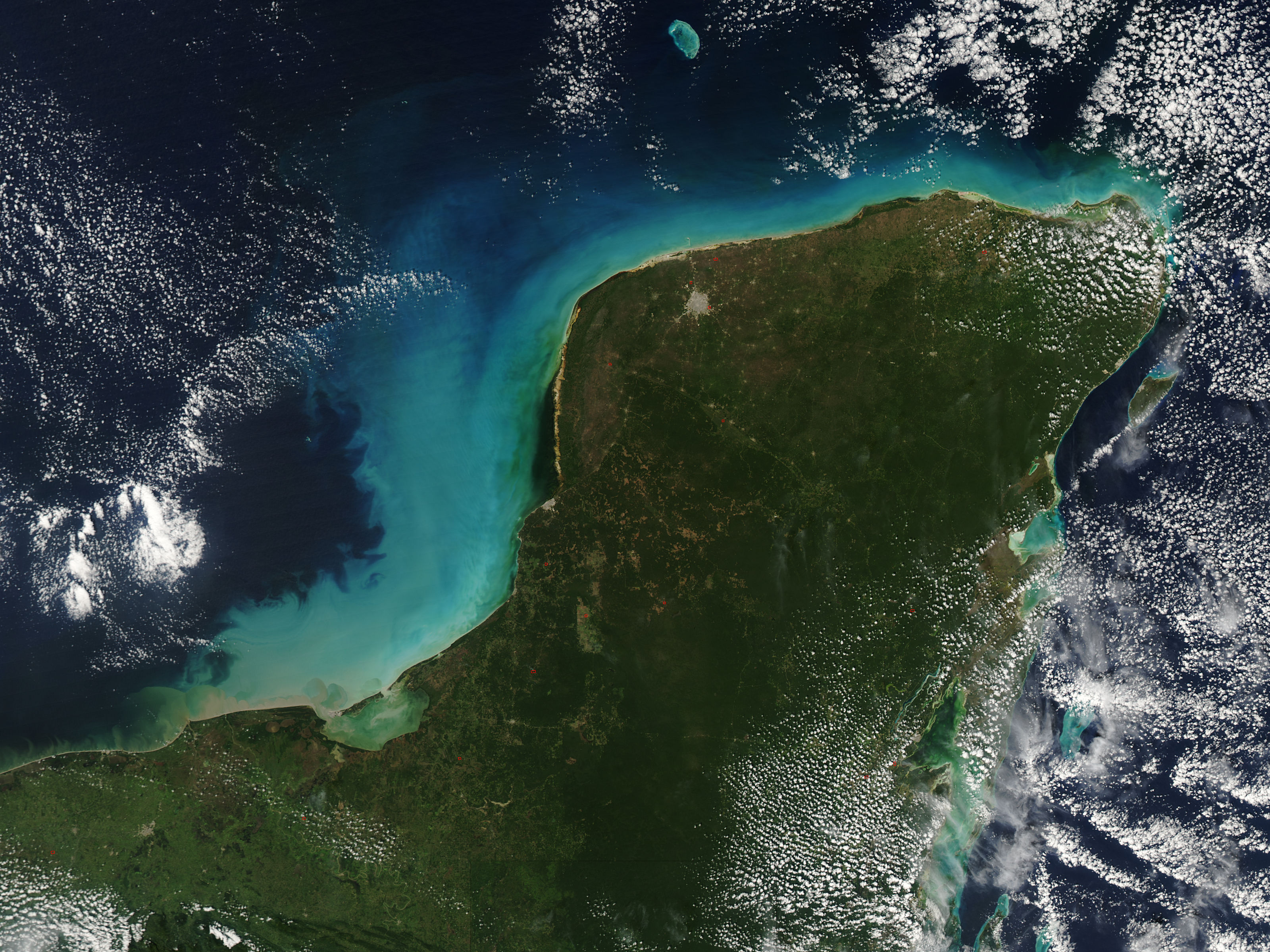 nasa visible earth: yucatan peninsula