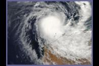 Cyclone Hubert over northwest Australia