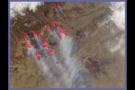Fires and Burn Scars in Mongolia