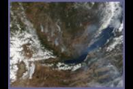 Fires Near Lake Baikal