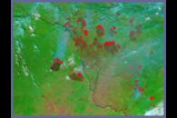 Fires along the Russia-China border