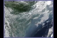 Haze over the United States East Coast