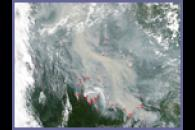 Smoke and Fires Across Western Siberia