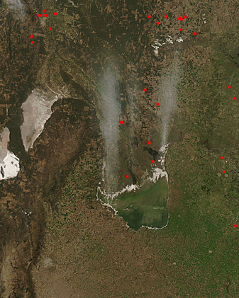 Dust storm near Laguna Mar Chiquita, Argentina - related image preview
