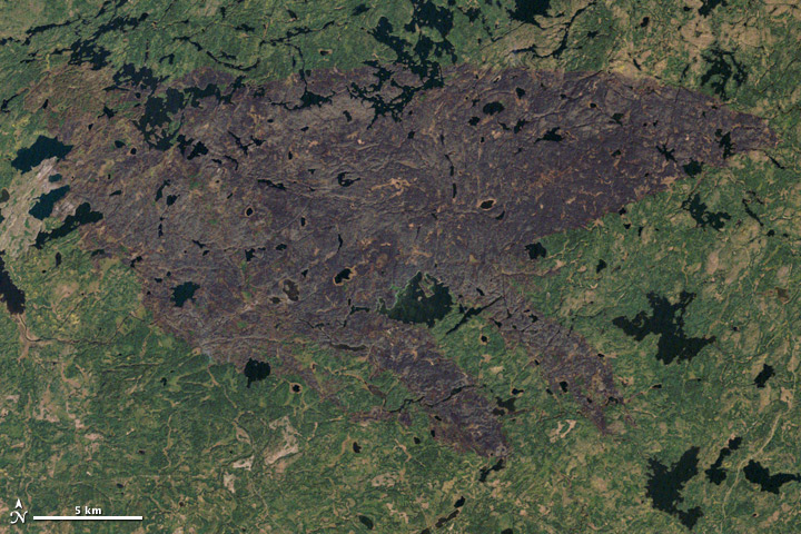Pagami Creek Fire Map.Burn Scar From The Pagami Creek Fire In Minnesota