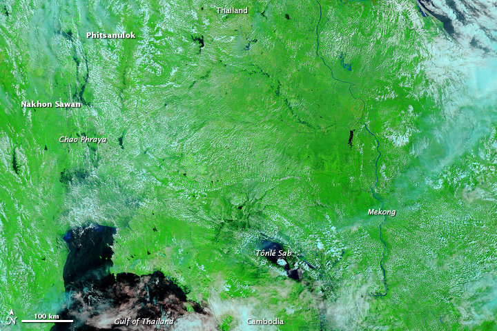 Flooding in Thailand and Cambodia