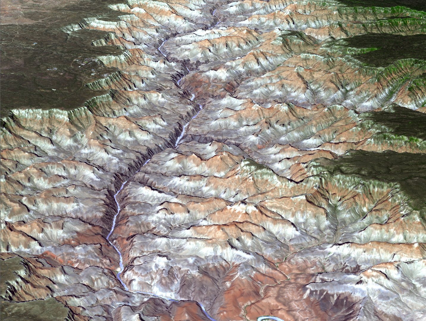 Topographic Map Grand Canyon.Grand New View Of The Canyon