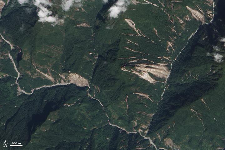 Landslides in Sikkim