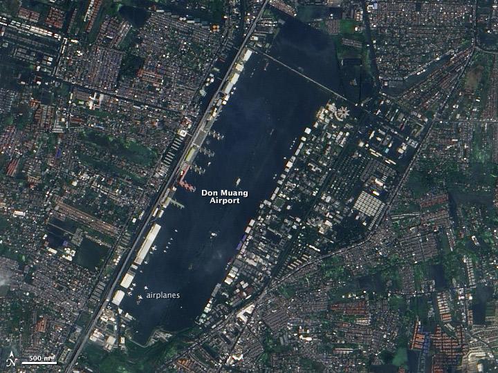 Flood Waters Inundate a Bangkok Airport