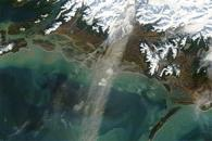 Dust over the Gulf of Alaska