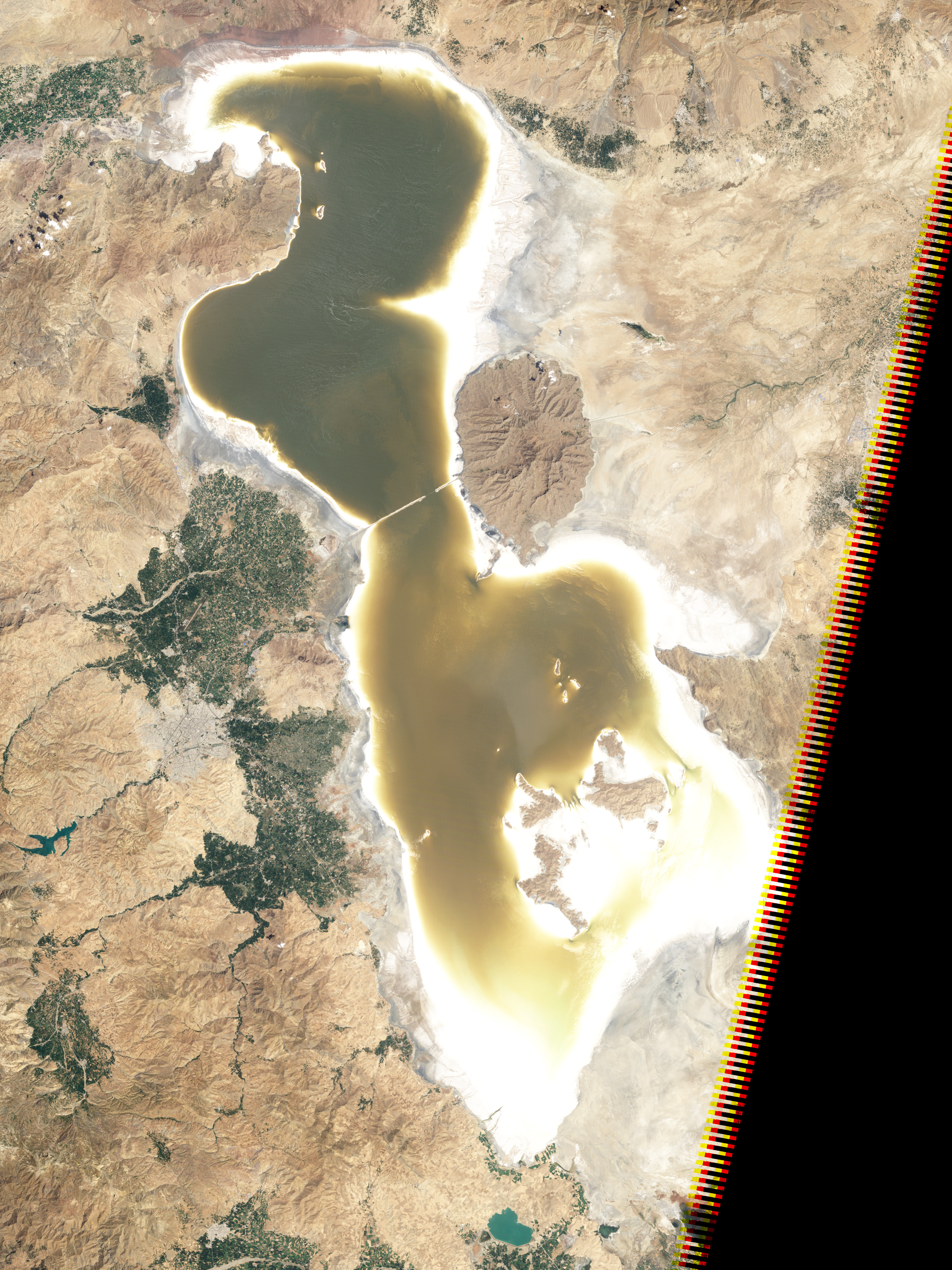 Lake Orumiyeh Iran Image of the Day