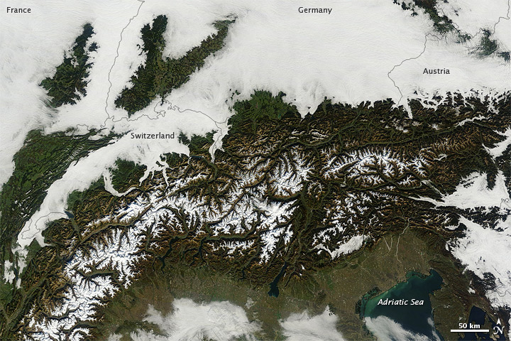 Low Clouds over Central Europe