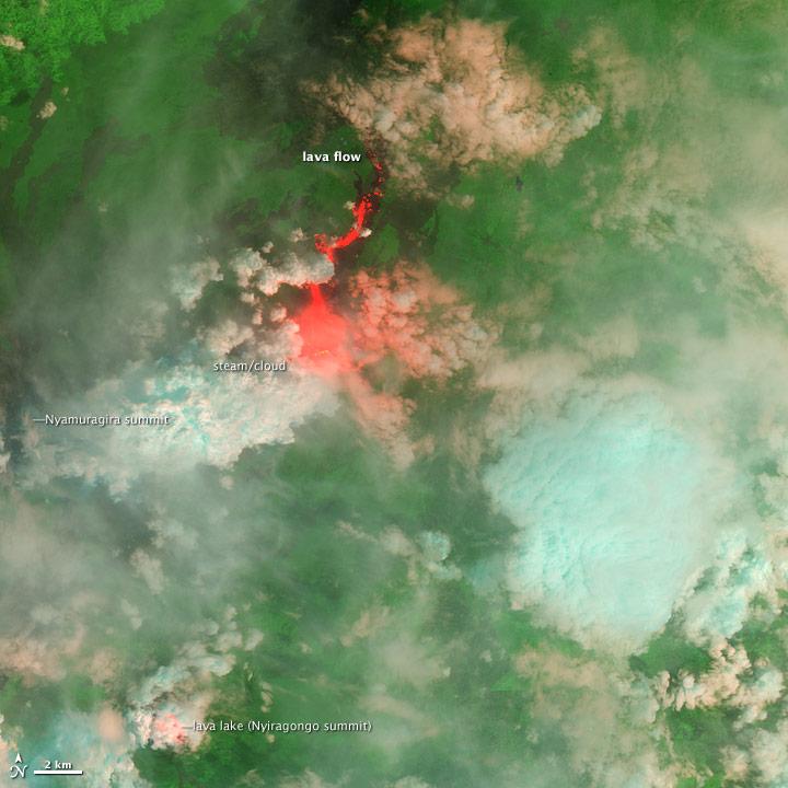 Nyamuragira Volcano Erupts