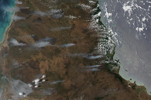 Fires in Queenland, Australia