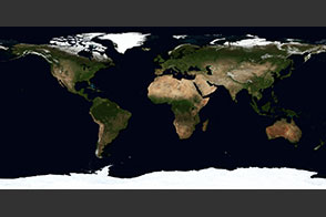 June, Blue Marble Next Generation - selected image