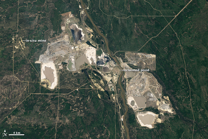 Athabasca Oil Sands from NASA Earth Observatory