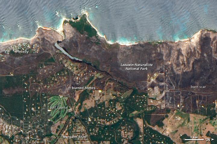 Bushfires in Southwestern Australia