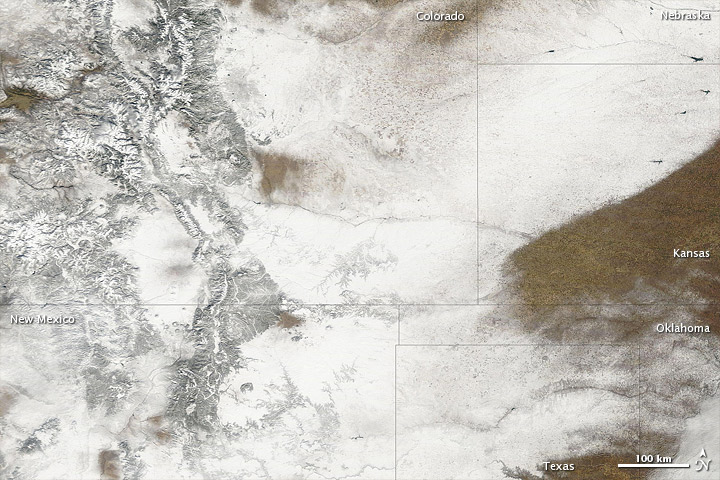 Snowstorm in Western States