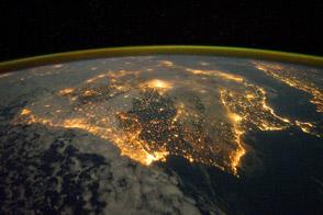 Iberian Peninsula at Night