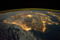 Iberian Peninsula at Night