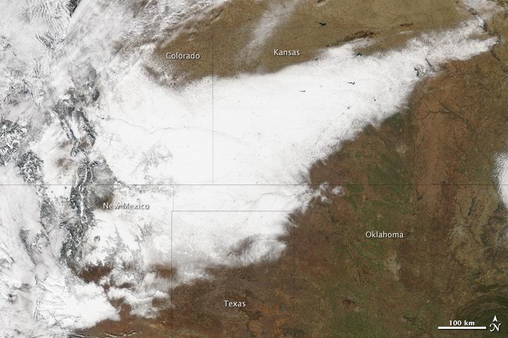 Blizzard Moves Across Southwest United States